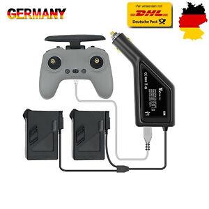 Auto Ladegerät Adapter Für DJI FPV Drohne Fernbedienung & Batterie Lade Hub 3in1