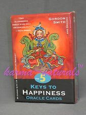 The 5 KEYS to HAPPINESS ORACLE CARDS Card Deck by Gordon Smith - NEW Divination