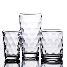 Drinking Glasses Kitchen Glassware Mix Set Of 12 Clear Glass Water Juice Cups