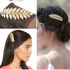 Festival Bridal Gold Leaf Branch French Updo Hair Pin Clip Dress Snap Barrette
