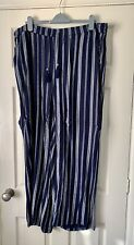 Wide Leg Relaxed Fit Trousers Crinkle Fabric F&F Size 20 Worn Once Exc Condition