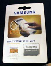 Samsung 64GB  48MB/s EVO MicroSD SDXC UHS-I Class 10 Memory Card + SD Adapter