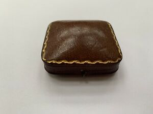 Fine Antique Leather Brooch, Pin, Jewellery Box, Edward Glasgow