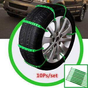 10Pcs Car Tire Chain Emergency Anti-skid Snow Wheel Zip Tie Belt Strap Universal