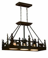 Bryce Vaxcel 3 Light Burnished Bronze Rustic Lodge Kitchen Lighting  PD55436BBZ
