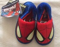 NWT Toddler Boys Spider Man Scuff Slippers New Unused Warm Fun Footwear for Kids
