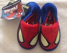 Boys Spiderman Inside Footwear Shoes 9-10 Slippers