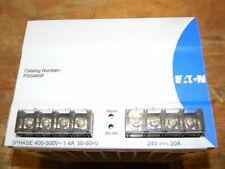 Eaton PSG480F AC/DC DIN Rail Power Supply, 3 Phase, 1 Output, 480 W, 24 VDC, 20A