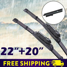 "22""+20"" Car Front Window Frameless Wiper Blades Fit for Ford Mustang 2017-2019"