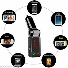 Protable Car Wireless Bluetooth MP3 Player FM Transmitter Handfree USB For Phone