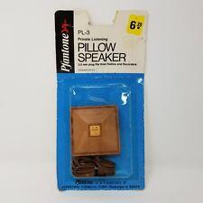 Vintage Pfantone Pillow Speaker PL-3 New Old Stock Personal Audio Music