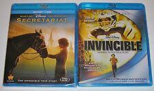 Disney Blu-ray Lot - Secretariat (New) Invincible (New)