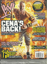 WWE Wrestling Magazine Holiday 2008 John Cena SEALED IN BAG w/Undertaker Poster