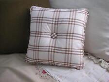 New Custom Ralph Lauren Prairie Plains Plaid Throw Pillow 1 Button