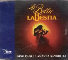 """GINO PAOLI - RARO CDs 1992 """" LA BELLA E LA BESTIA """" AMANDA SANDRELLI"""