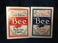 Bee Standard Poker Diamond Back Club Special Playing Cards Red or Blue!