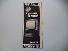 advertising Pubblicità 1965 TELEVISORE PHONOLA SERIE D'ORO