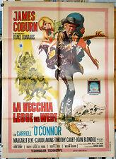 manifesto 2F film WATERHOLE #3 ...LEGGE DEL WEST James Coburn Blake Edwards 1967