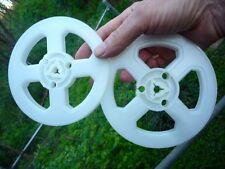 NEW 200' PLASTIC REGULAR 8MM STANDARD 8 FILM REELS 5 inch QTY 2 USA
