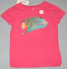 New OLD NAVY Size 2T Pink Fish Short Sleeves Tops ~ Shirt