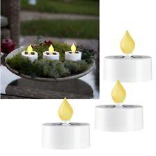 3er Set Solar LED Teelichter für Außen Sensor Solarkerze Garten-Kerze Outdoor