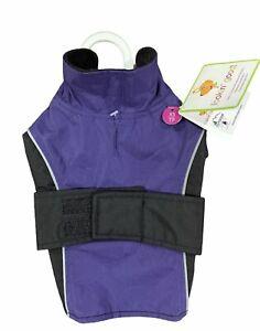 Chihuahua Puppy Waterproof Reflective Coat, Purple with Black, XS . Brand new.