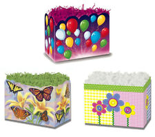 Boxco Themed Gift Basket Boxes Balloons, Butterflies, Buttons -18 boxes New!