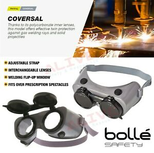 Bolle Safety Goggles COVERSAL COVRP5 with Welding Shade 5 Lens UV Protection