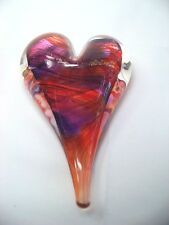 Luke Adams Glass Heart Shaped Paper Weights - 5 Colors Available