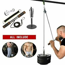DIY Fitness Pulley Cable Gym Workout Equipment Machine Attachment System Home