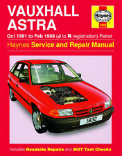 1832 Haynes Vauxhall Astra Petrol (Oct 1991 - Feb 1998) J to R Workshop Manual
