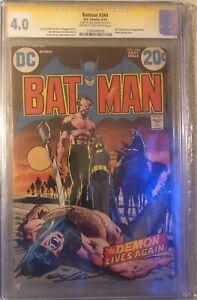 Batman #244 * CGC 4.0 SS Signed by Neil Adams * Ra's Al Ghul & Talia Appearamce