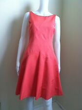 Reiss Fairy coral fit and flare dress sz 2