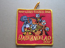 Bay Lakes Dad And Lad 2017 BSA Cloth Patch Badge Boy Scouts Scouting (L2K)