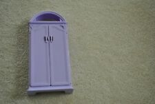 Vintage 1994 Mattel Doll House Barbie Sized Furniture Purple Closet