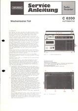 Grundig Service Manual für C 6200