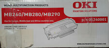 Original OKI Black Toner Cartridge MB260, MB280, MB290 01240001 5500 pages OVP