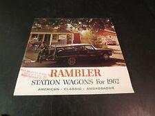 Original 1962 Rambler Station Wagons Sales Brochure