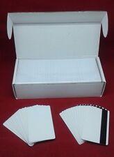 500 Blank White PVC Cards CR80 30 mil 3Tracks HiCo Magnetic Stripe thermal print