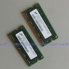 Micron 2GB 2X1GB DDR333 PC2700 sodimm 333Mhz laptop Notebook CL2.5 memory