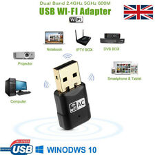 600Mbps Dual Band 802.11ac 2.4GHz 5GHz USB Wifi PC Adapter Dongle LAN Network TV