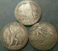 GERMAN MEDALS EXONUMIA TOKENS ***FROM THE SERIES HISTORICAL EVENTS***SET OF 3 PC