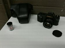 Canon T50 35mm Film Camera W/ FD 50mm 1.8 Lens and Case (d32)