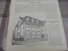 1911 Baugewerkszeitung 46 / Bank in Suhl Thüringische Landesbank