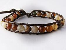 Agate Leather Stainless Steel Jewellery for Men