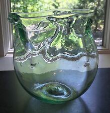 Paedra Bramhall Early Large Green Glass Bowl Vase 1972