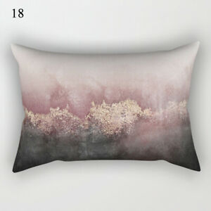 Geometric Cushion Cover Case 30x50cm Marble Bedroom Sofa Decoration Pillow Cover
