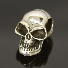 Totenkopf Anhänger echt 925 Silber Skull Biker Gothic Bikerschmuck mit Band A008