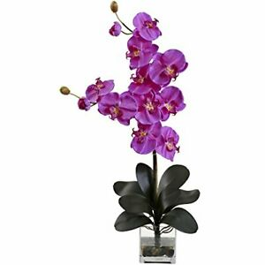 Nearly Natural 1352-OR Double Giant Phalaenopsis with Vase Orchid