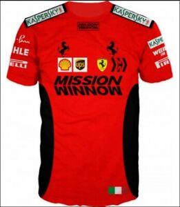 3D T-shirt Formula One Racing Scuderia Ferrari Mission Winnow Charles Leclerc